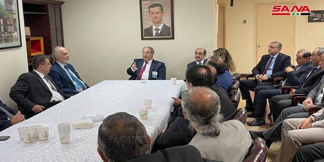المقداد:ضرورة فضح ممارسات واشنطن وحصارها المفروض على الشعب السوري