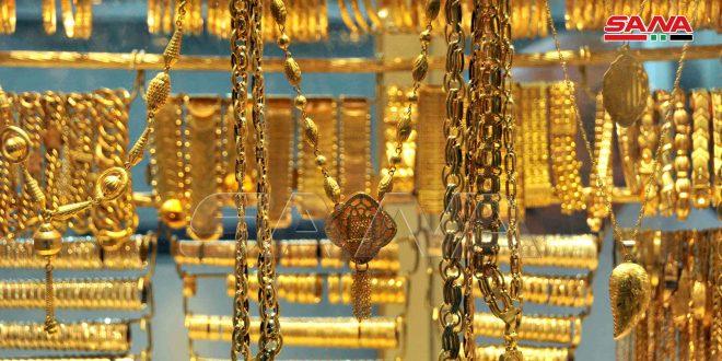 الذهب ينخفض في السوق المحلية ألفي ليرة