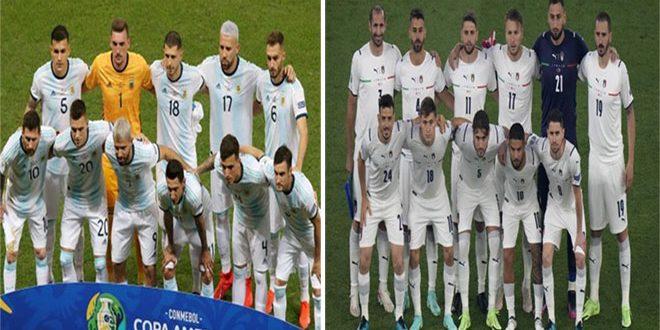 يورو أمريكا.. إيطاليا في مواجهة الأرجنتين