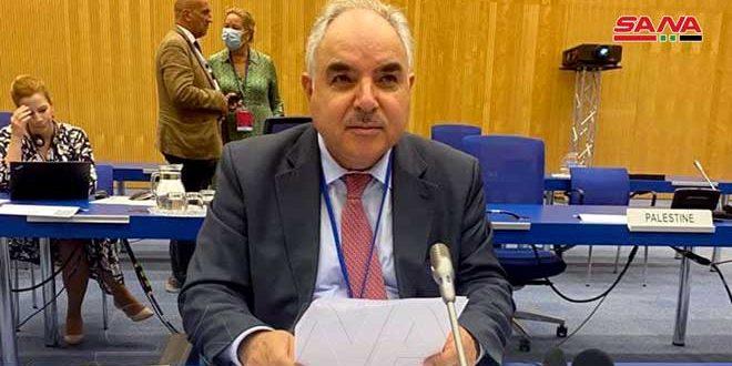 السفير خضور: سورية أوفت بالتزاماتها حيال معاهدة عدم انتشار الأسلحة النووية