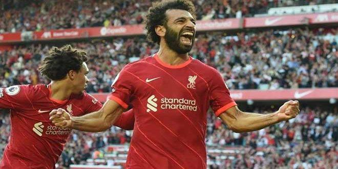 ليفربول يفوز على مانشستر يونايتد بخماسية في الدوري الإنكليزي
