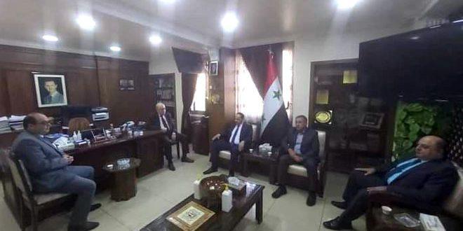 مباحثات سورية عراقية لرفع مستوى التبادل التجاري والاستثمار الصناعي