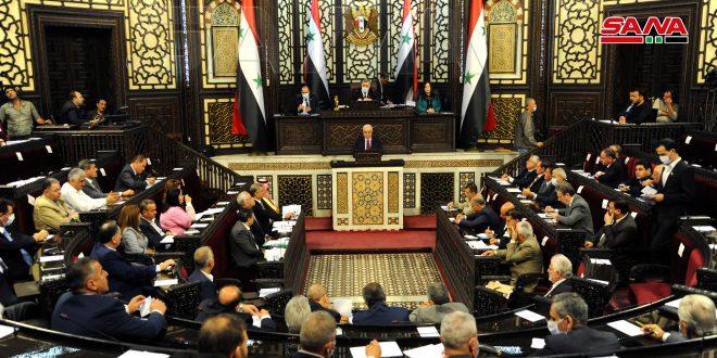 مجلس الشعب يقر عدداً من مشاريع القوانين