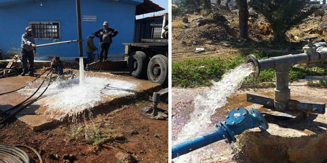إعادة تشغيل ثلاث آبار لمياه الشرب بعد صيانتها بالسويداء
