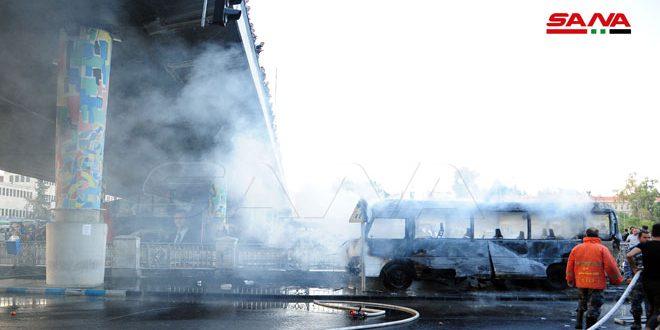 لحود يدين التفجير الإرهابي الذي استهدف حافلة في دمشق