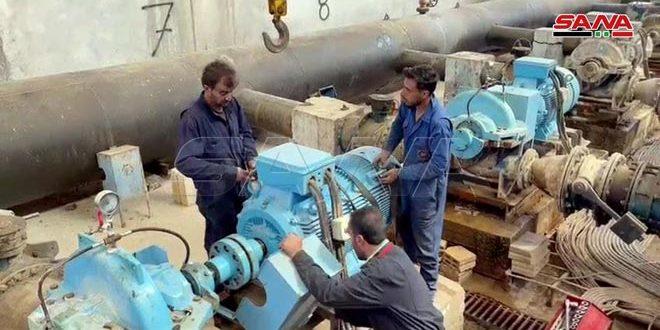 مياه الحسكة.. إجراء صيانة للشبكة لتحسين ضخ المياه
