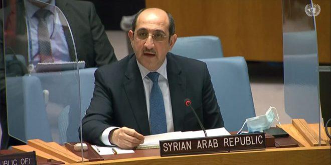 سورية تؤكد مواصلتها العمل لتحرير أراضيها المحتلة ومكافحة الإرهاب بالتوازي مع جهودها السياسية